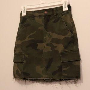 Hollister Camo Cargo Mini Skirt